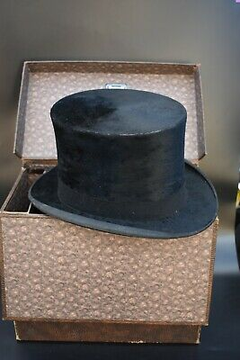Vintage Black Silk Top Hat - R.W.Forsyth Edinburgh in Dunn & Co Box.