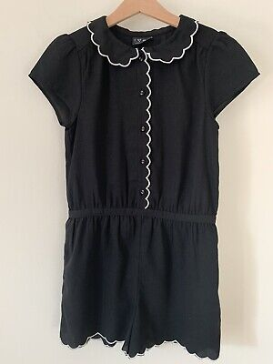 Girls Next Age 10 Black Playsuit Smart Shorts Outfit