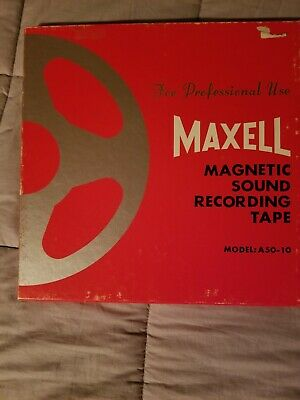 Maxell Magnetic Sound Recording Tape Model: A50-10 Empty