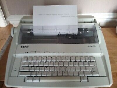 Brother AX-100 Electric Typewriter Excellent Working Condition, One Owner.