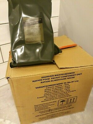 2020 Lithuanian Combat Ration MRE  Meal Ready to Eat ALL MENUS 1-10
