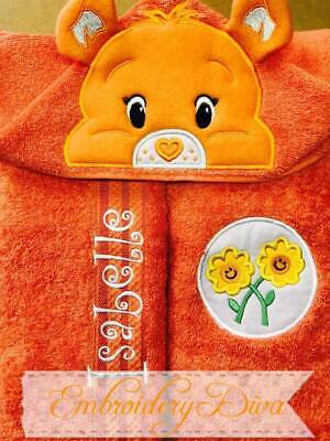 Care Bear Personalised Character Hooded Towels Beach/ Bath