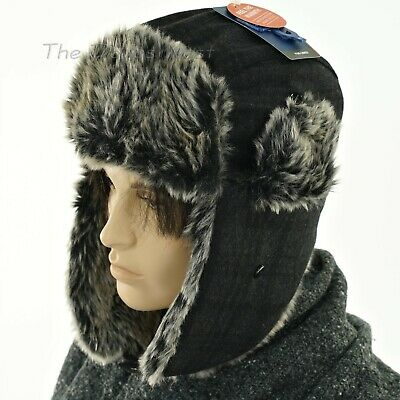Dockers #6815 NEW Men/'s One Size Multi-Color Plaid Faux Fur Trapper Hat