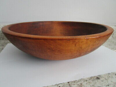 """Round Wooden Bowl by Munising 13.5"""" Imperfect"""