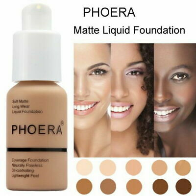 PHOERA 30g Foundation Concealer Make Up Soft Brighten Matte Full Coverage Liquid