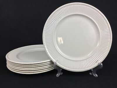 "Wedgwood Edme Embossed Creamware EIGHT (8) 10 3/8"" Dinner Plates"