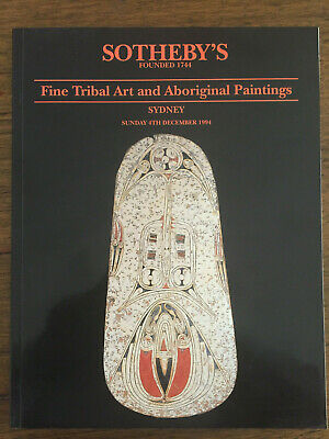 Southeby's Tribal Art & Aboriginal Paintings Sydney 4 December 1994 | FREE Post