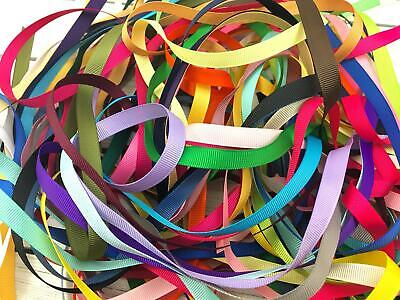10/20 yards 3/8 Solid Grosgrain Ribbon By the Yard GRAB BAG Mix Color USA SELLER
