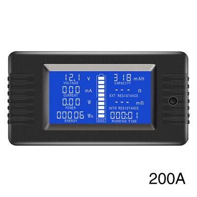 LCD Display 0-200V Battery Tester English With Backlight Portable Electricity