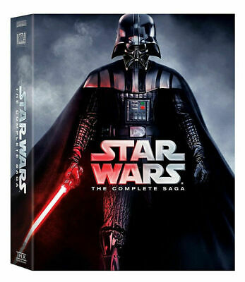 Star Wars: Complete Saga Episodes 1-6 Movie Box Set (12-Disc DVD) Sealed US