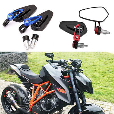 Handle Bar End Mirrors Motorcycle Rear View Wing Mirror For KTM 250 390 690 Duke