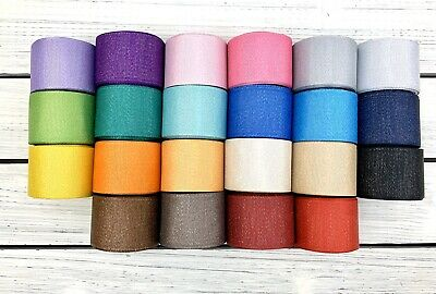 "Sparkly Glitter Grosgrain Ribbon 1.5"" No Mess Choose Color USA SELLER Crafteefy"