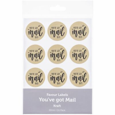 You've Got Mail Stickers Kraft 24 Pack
