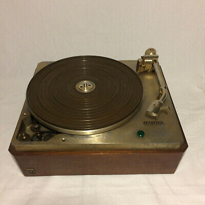 Vintage Empire 498 Gold Turntable Working