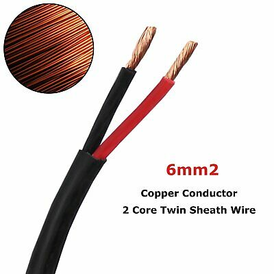 6mm Automotive 2 Core Twin Sheath Wire 12V Insulation Sheath Auto Solar Cables