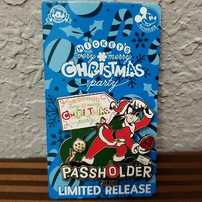 2019 Disney Parks Mickey's Very Merry Christmas Party Passholder Goofy Pin MVMCP
