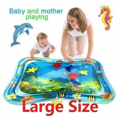 Inflatable Water Mat Infant Toddlers Mattress Splash Playmat Tummy Time For Baby