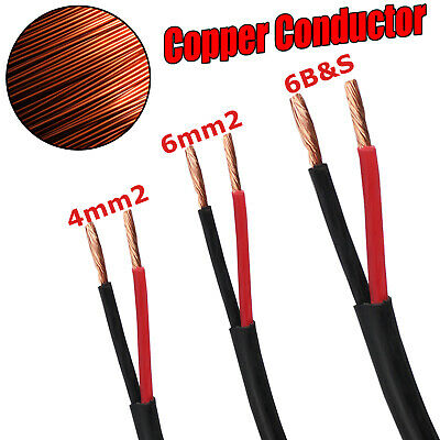 Twin Core Wire Cable 4mm 6mm 6 b s Electrical 2 Sheath Cables Caravan 4X4 12V