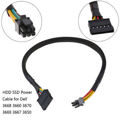 HDD SSD power cable 6 Pin to SATA 15Pin converter cable for dell 3668 3667 3PGAU
