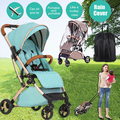 Foldable Infant Baby Stroller Pram Compact Lightweight Travel Carry-on Car Plane