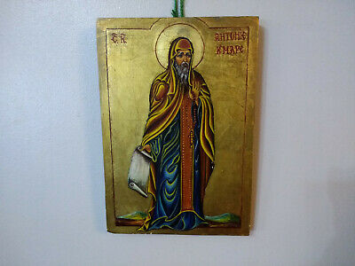 Christian Religious Wood Icon Hand Painted