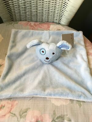 Bnwt Boots Mini Club Blue Dog Comforter Blankie Soft Toy Soother Doudou