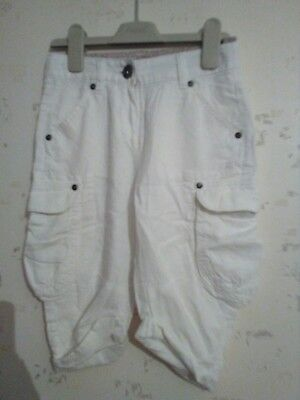 next white cropped trousers aged 6yrs