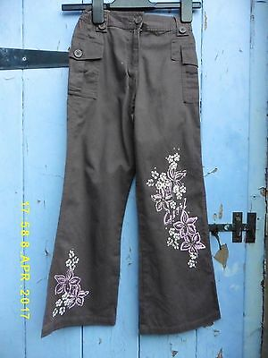 VINTAGE Girls Trousers Green 122 Cm Age 7 ADAMS  Cotton Perfect Cond & Quality