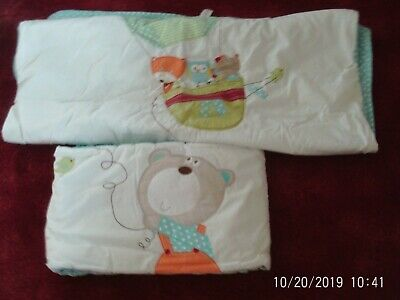 Next cot coverlet and bumper set good condition