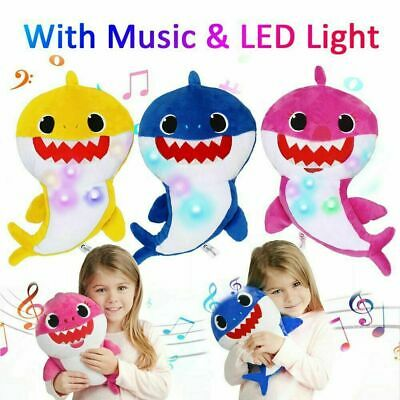 2019 Baby Plush Singing Toys LED Music Doll English Song Toy For Kids Xmas Gift