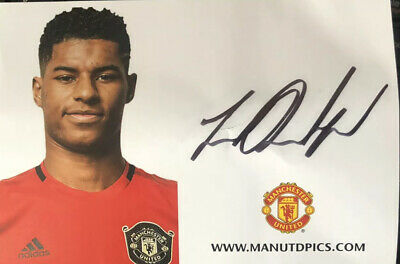Marcus Rashford  - Manchester United (Man Utd) Signed Club Card 2019/20