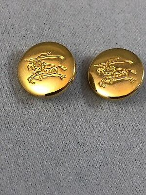 Burberry buttons (x10) Gold Metal Size 15mm