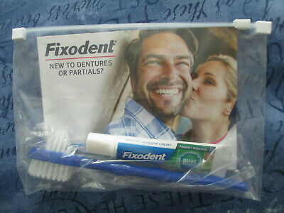 FIXODENT TRAVEL PACK NEW CONSISTING OF 10g ADHESIVE CREAM AND BRUSH