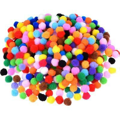Pompoms for Craft Making and Hobby Supplies 500 Pieces 1 cm Assorted Colors S3X8