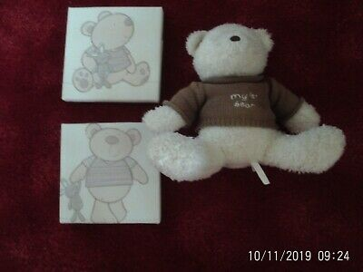 Mamas & Papas nursery accessories my 1st teddy and 2 pictures