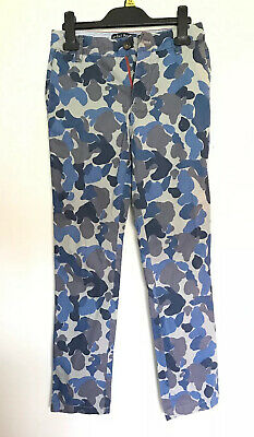 Mini Boden Girls Blue Camouflage Trousers 10 Years