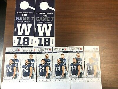 6 Penn State vs Rutgers Football Tickets with 2 Reserved Parking Passes