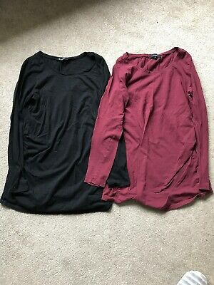 Bundle of 2 New Look Long-sleeve Maternity Tops Size 8
