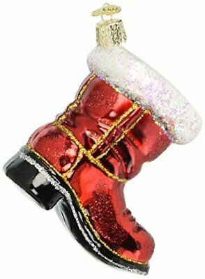 Old World Christmas Ornaments: Santa's Boot Glass Blown Ornaments for Christmas