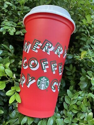 Starbucks 2019 Holiday Reusable Red Hot Cup Grande 16oz