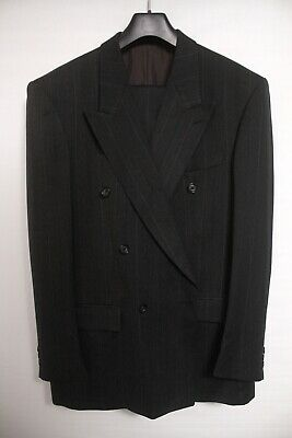 """Vintage 1970s BAUMLER Suit ~ Made in West Germany / Double Breasted - 44"""" / 38W"""