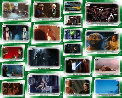 Topps Star Wars Card Trader SKYWALKER SAGA WAVE V [19 CARD GREEN BASE SET]