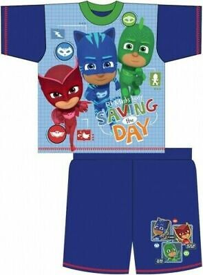 PJ Masks Pyjamas Childrens Kids Boys Blue Short PJs Age 18 Months- 5 Years
