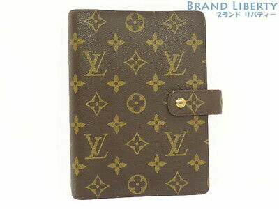 Auth LOUIS VUITTON monogramu Agenda MM notebook cover R20105