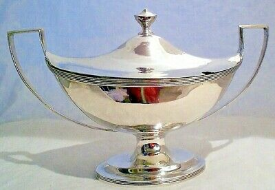 A solid silver boat-shaped sauce tureen, Bateman family, London 1800