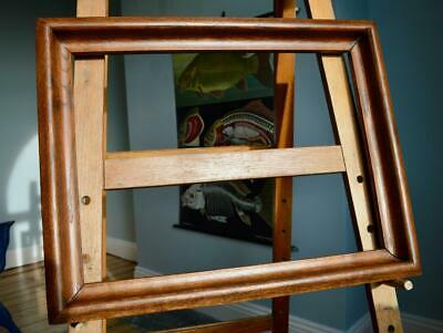 "SUBERB ANTIQUE VICTORIAN OAK PICTURE FRAME 23"" X 17"" REBATE OGEE v ARTS & CRAFTS"
