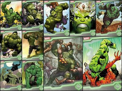 Topps Marvel Collect TOPPS SHOWCASE TOTALLY AWESOME HULK [11 CARD Limited SET]