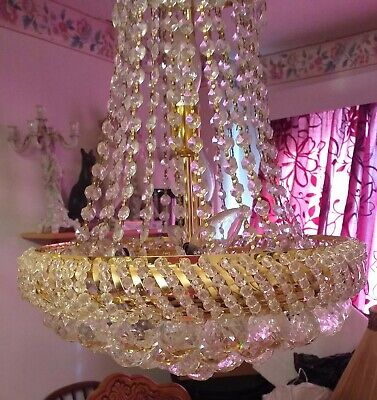 CHANDELIER - French Empire Style Tent and Waterfall Chandelier