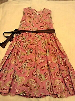 Girls Little Joule Joules Pink Print Summer Dress Age 6 Years