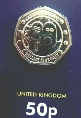 2019 Wallace And Gromit 50P Fifty Pence 30Th Anniversary Royal Mint Coin Pack